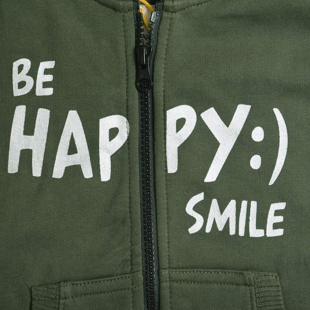 Stone Harbor Boy's Zipper Hoodie Army Green / 2-3 Years Boy's Stone Harbor Happy Smile Zipper Hoodie
