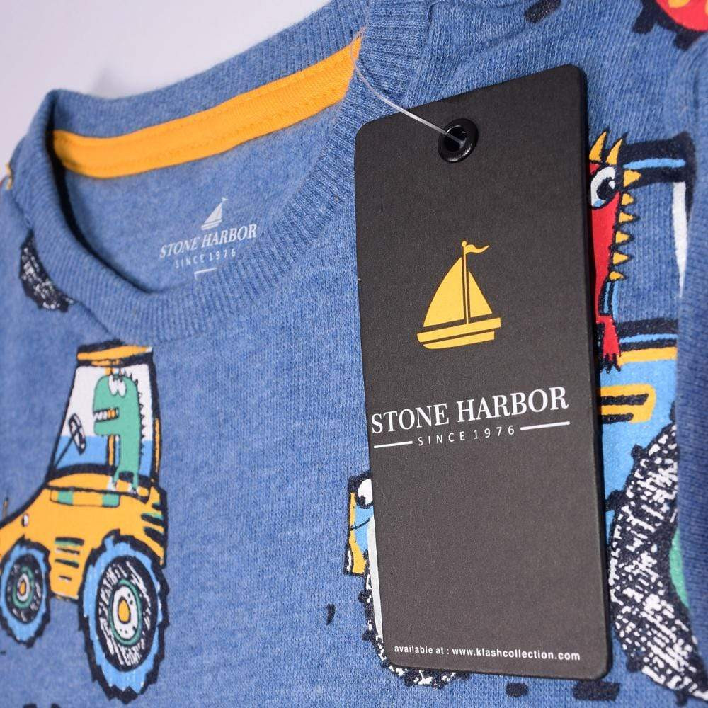 Stone Harbor Boy's Zipper Hoodie Blue / 2-3 Years Boy's Stone Harbor VOLIC CREW NECK SWEATSHIRT