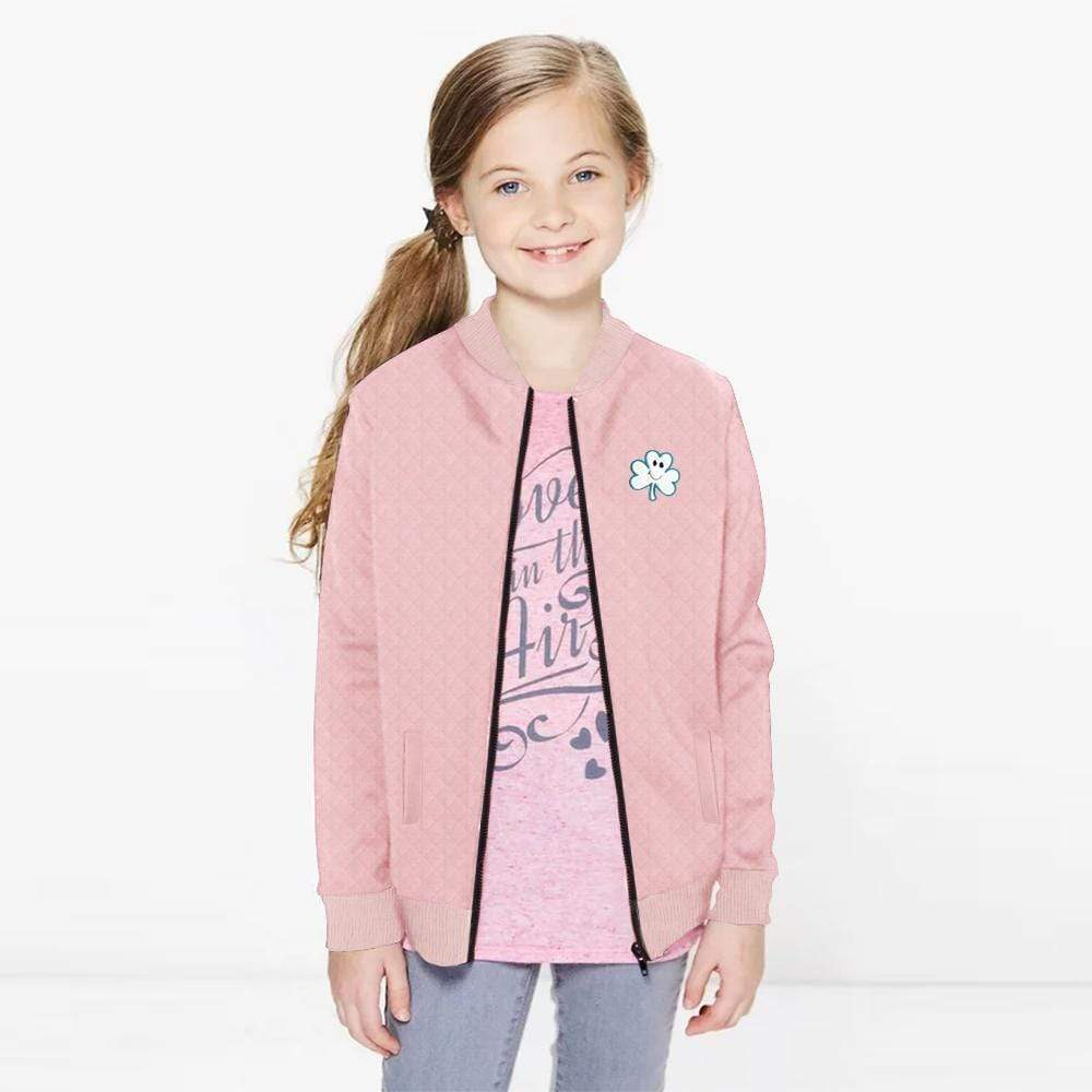 Stone Harbor Boy's Zipper Hoodie Pink / 2-3 Years Girl's Stone Harbor LEAFER BOMBER JACKET