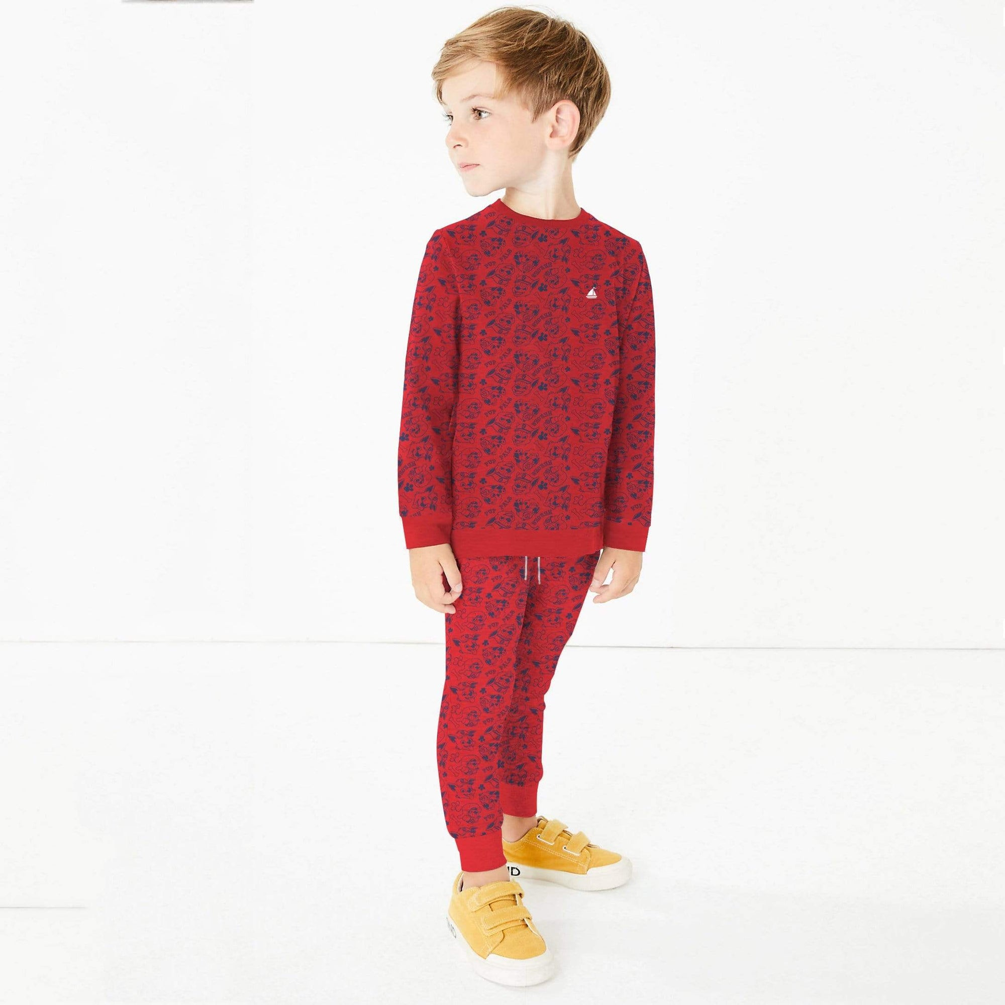 Stone Harbor Boys Track Suit Red / 2-3 Years Boy's Stone Harbor FOXING Allover Printed Track Suit