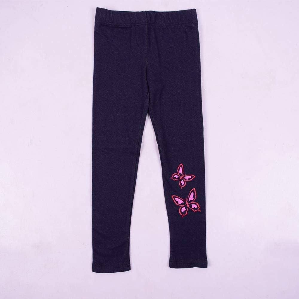 Stone Harbor Girl's Leggings Dark Navy / 2-3 Years Girl's Stone Harbor Pink Butterfly Leggings