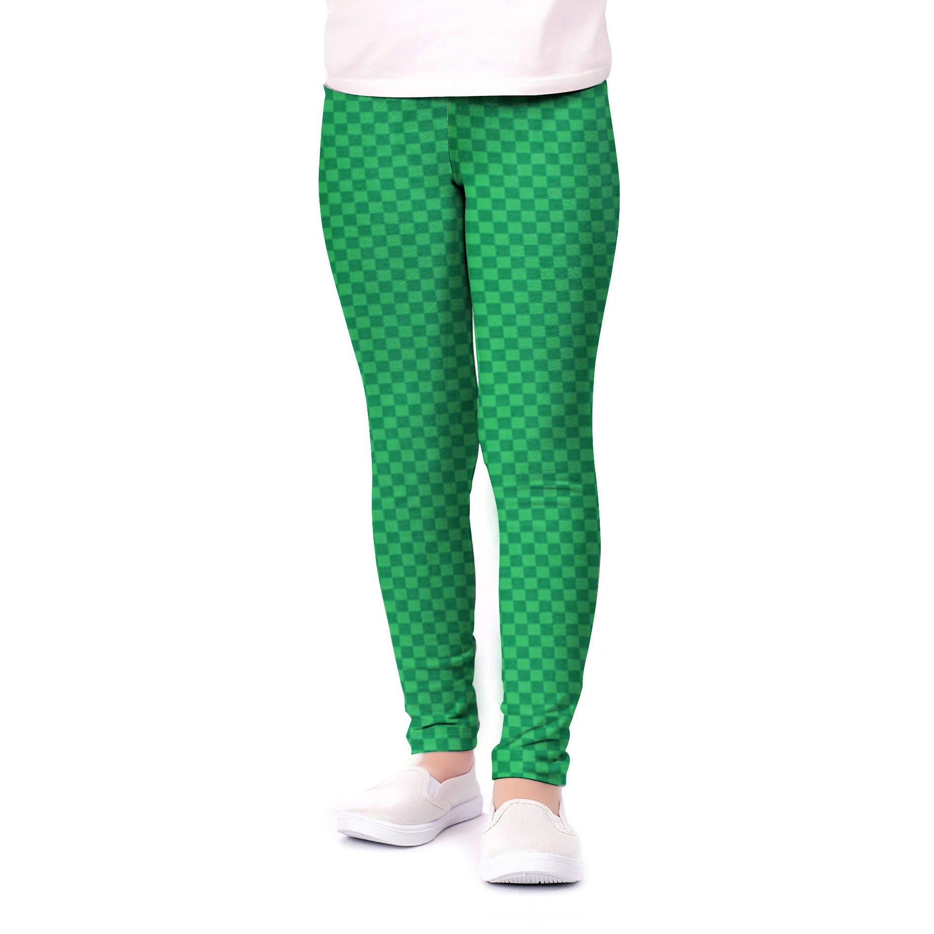 Stone Harbor Girl's Leggings Green / 2-3 Years Stone Harbor Girl's Green Checkered Leggings