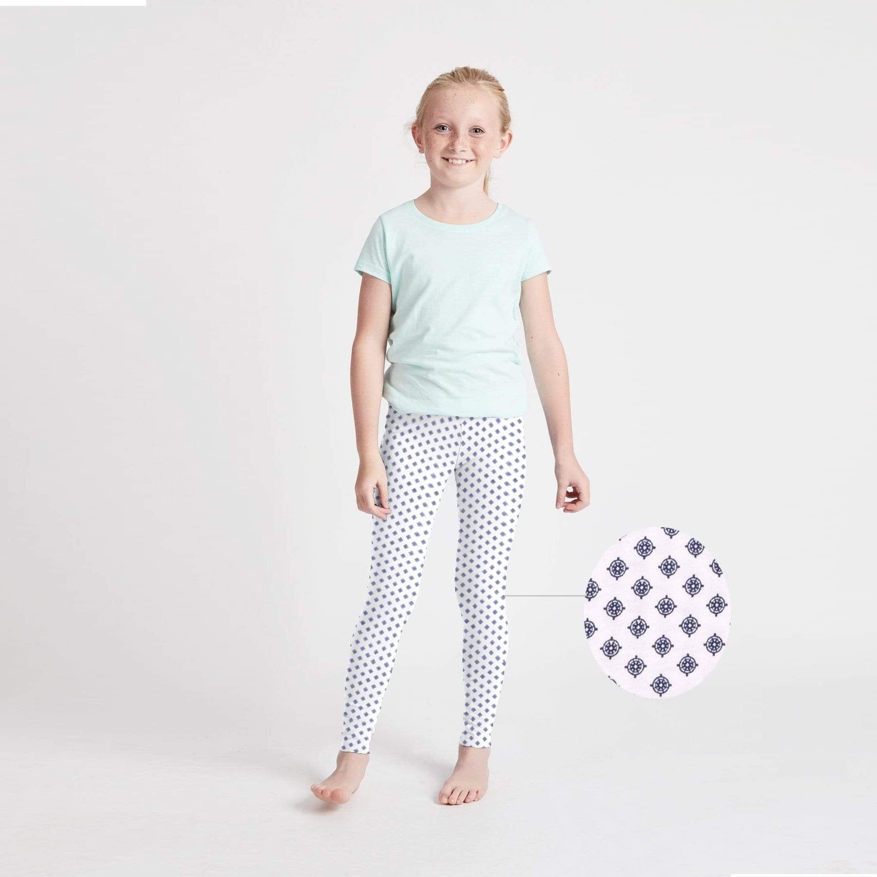 Stone Harbor Girl's Leggings White / 2-3 Years Girl's Stone Harbor Allover Dot Print Leggings