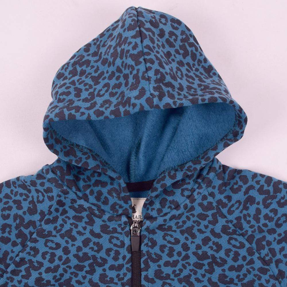Stone Harbor Girl's Track Suit Blue / 2-3 Years Girl's Stone Harbor Allover Leopard Printed Track Suit
