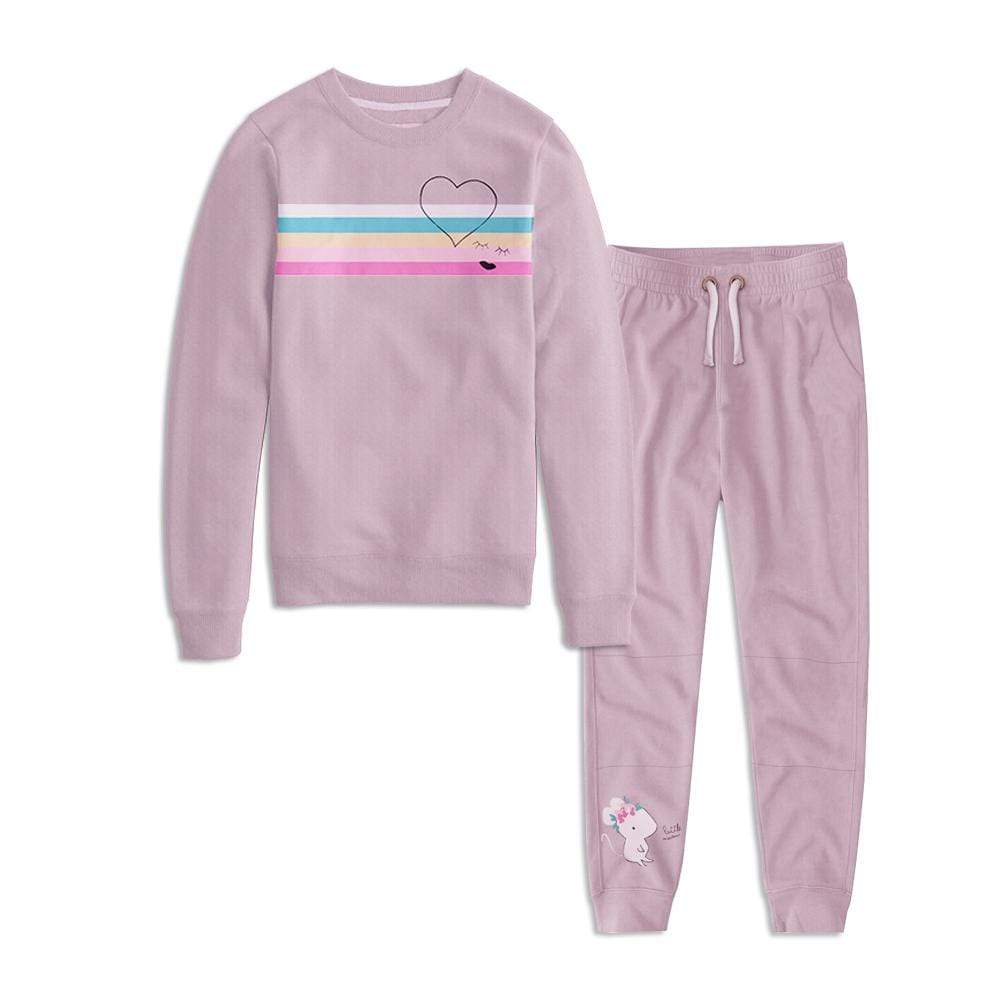Stone Harbor Girl's Track Suit Pink / 0-3 Months Girl's Stone Harbor Rainbow Stripes Track Suit