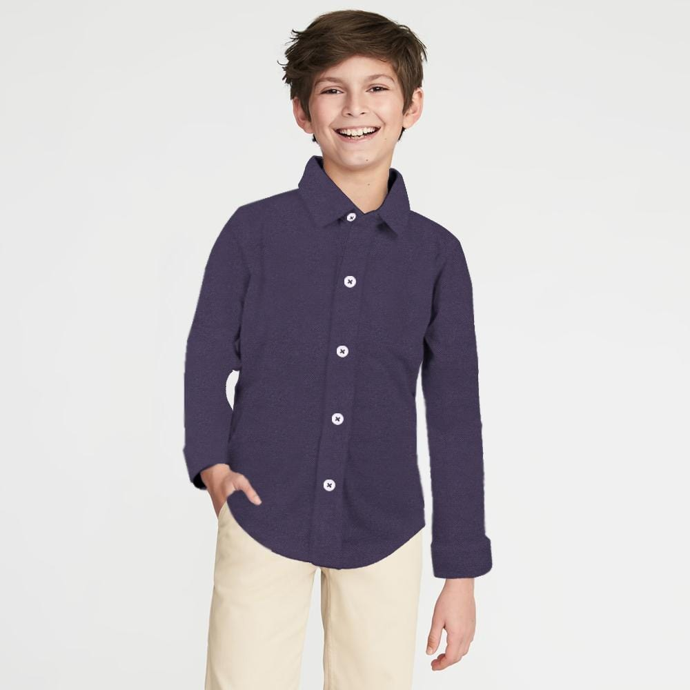 Stone Harbor Kid's Casual Shirt Navy / 2-3 Years Stone Harbor Slim Fit Navy Long Sleeve Button Shirt