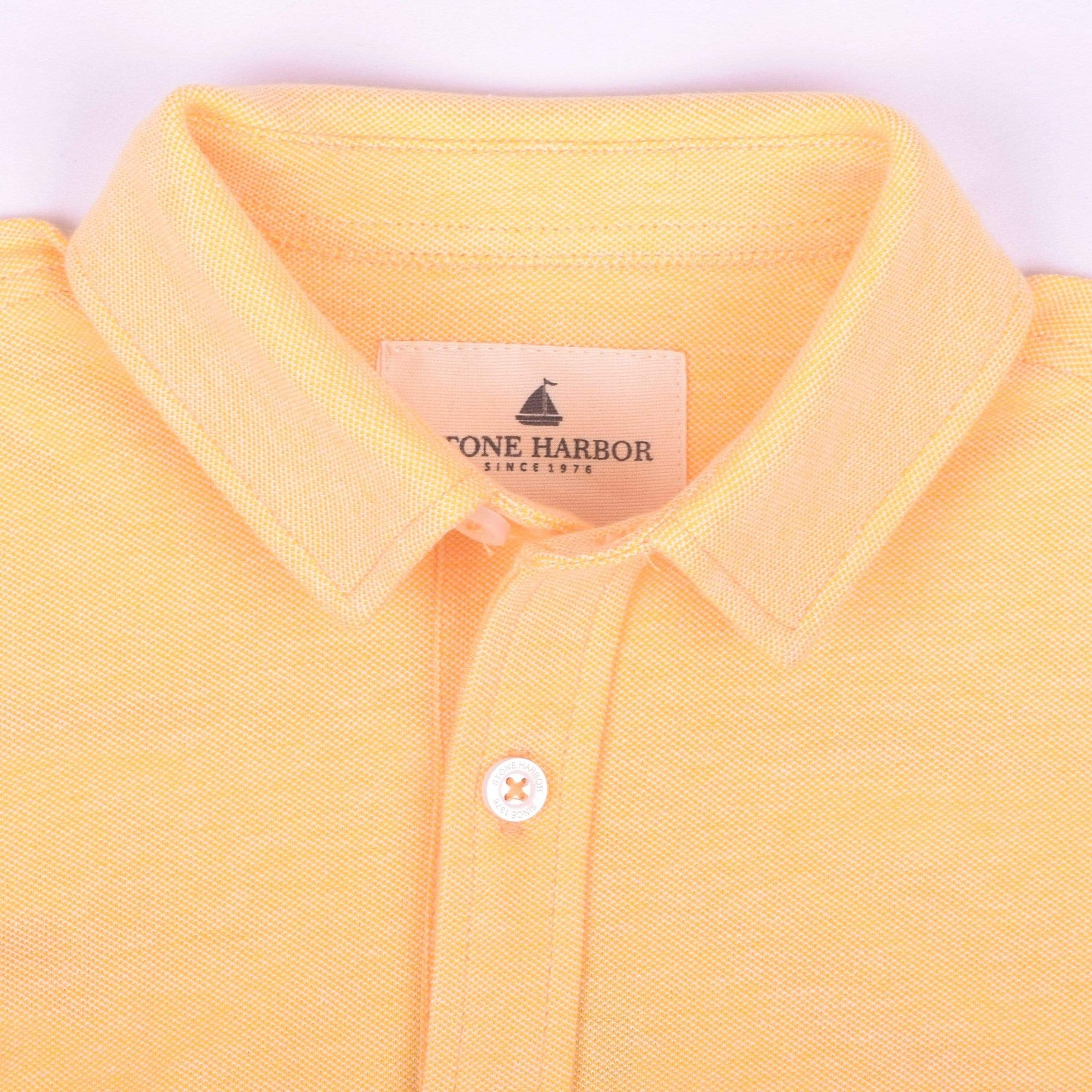 Stone Harbor Kid's Casual Shirt Yellow / 2-3 Years Stone Harbor Slim Fit Yellow Long Sleeve Button Shirt