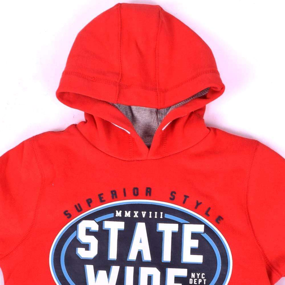 Stone Harbor Kid's Hoodie 10-11 years / Red Stone Harbor State Wide Heavyweight Thermal Lined Graphic Hoodie