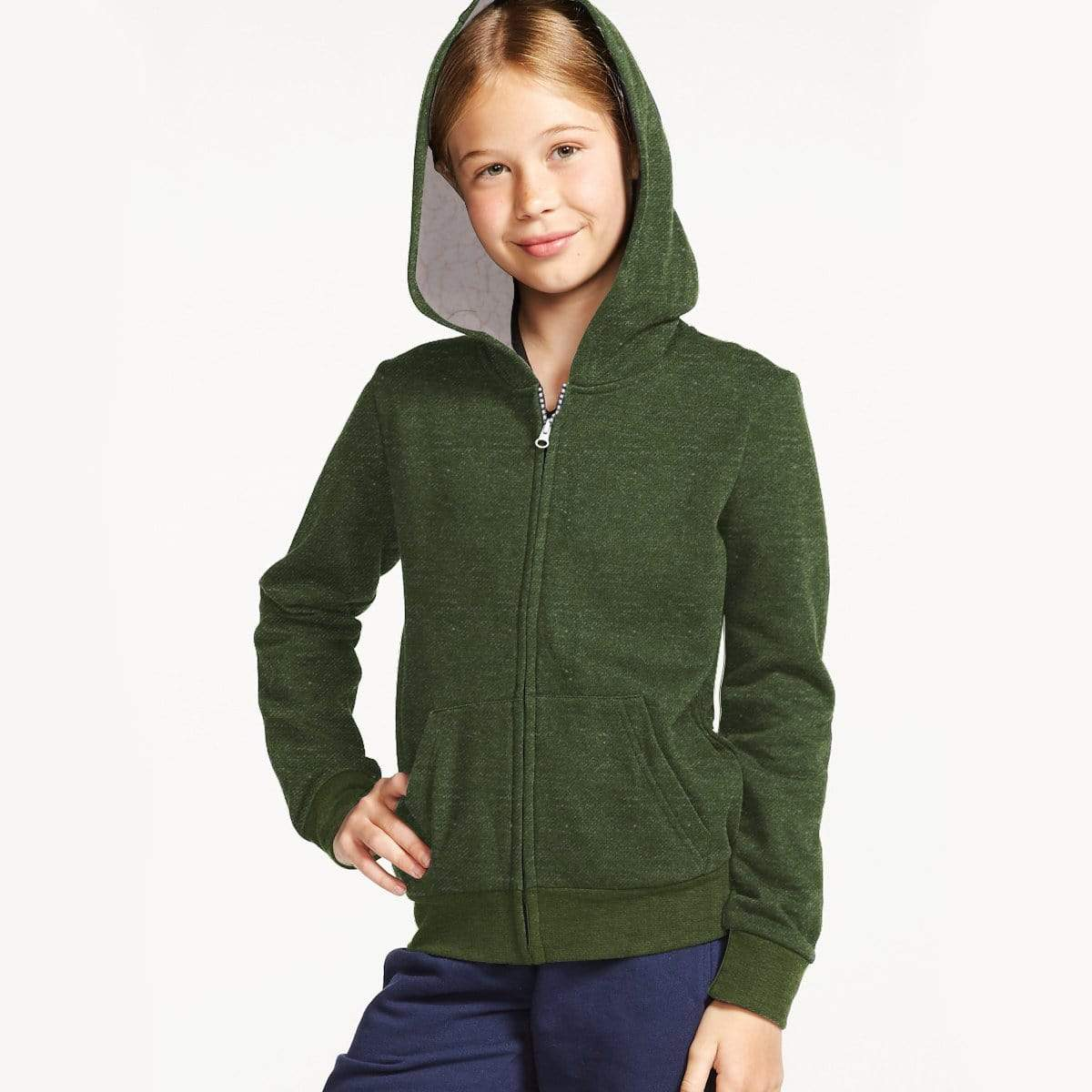 Stone Harbor Kid's Hoodie Army Green / 2-3 Years Girl's Stone Harbor Armic Fur Lined Zipper Hoodie