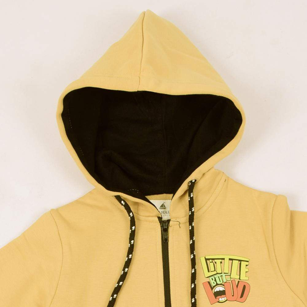 "Stone Harbor Kid's Hoodie Mustard / 2-3 Years Girl's Stone Harbor ""Little But Loud"" Zipper Hoodie"