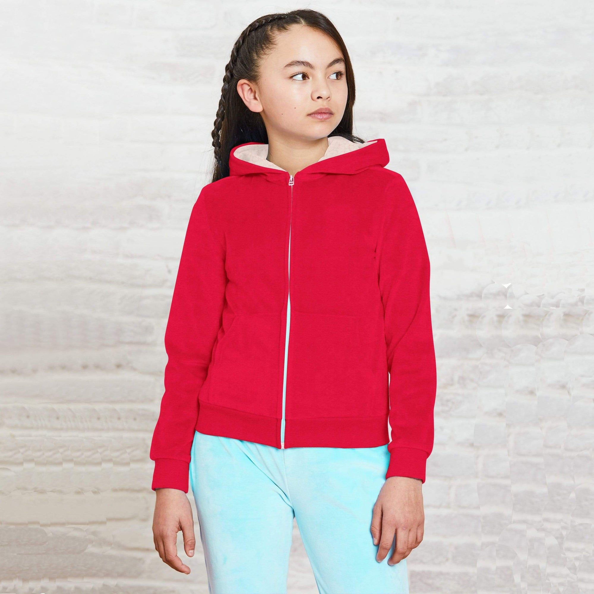 Stone Harbor Kid's Hoodie Girl's Stone Harbor Volcana Fur Lined Zipper Hoodie