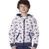 Stone Harbor Mascote Allover printed Zipper hoodie with contrast rib