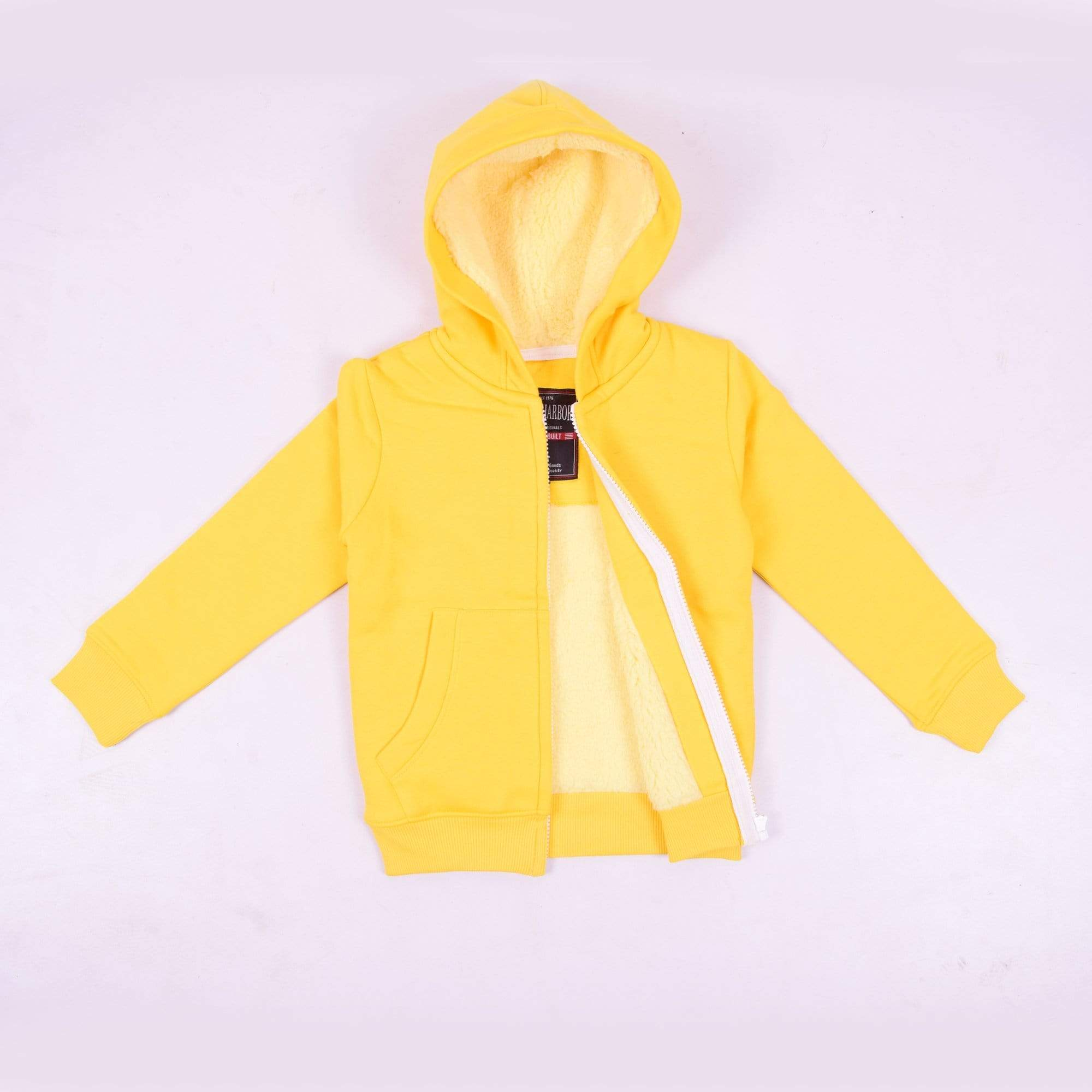 Stone Harbor Kid's Hoodie Yellow / 2-3 Years Girl's Stone Harbor Sunflow Fur Lined Zipper Hoodie