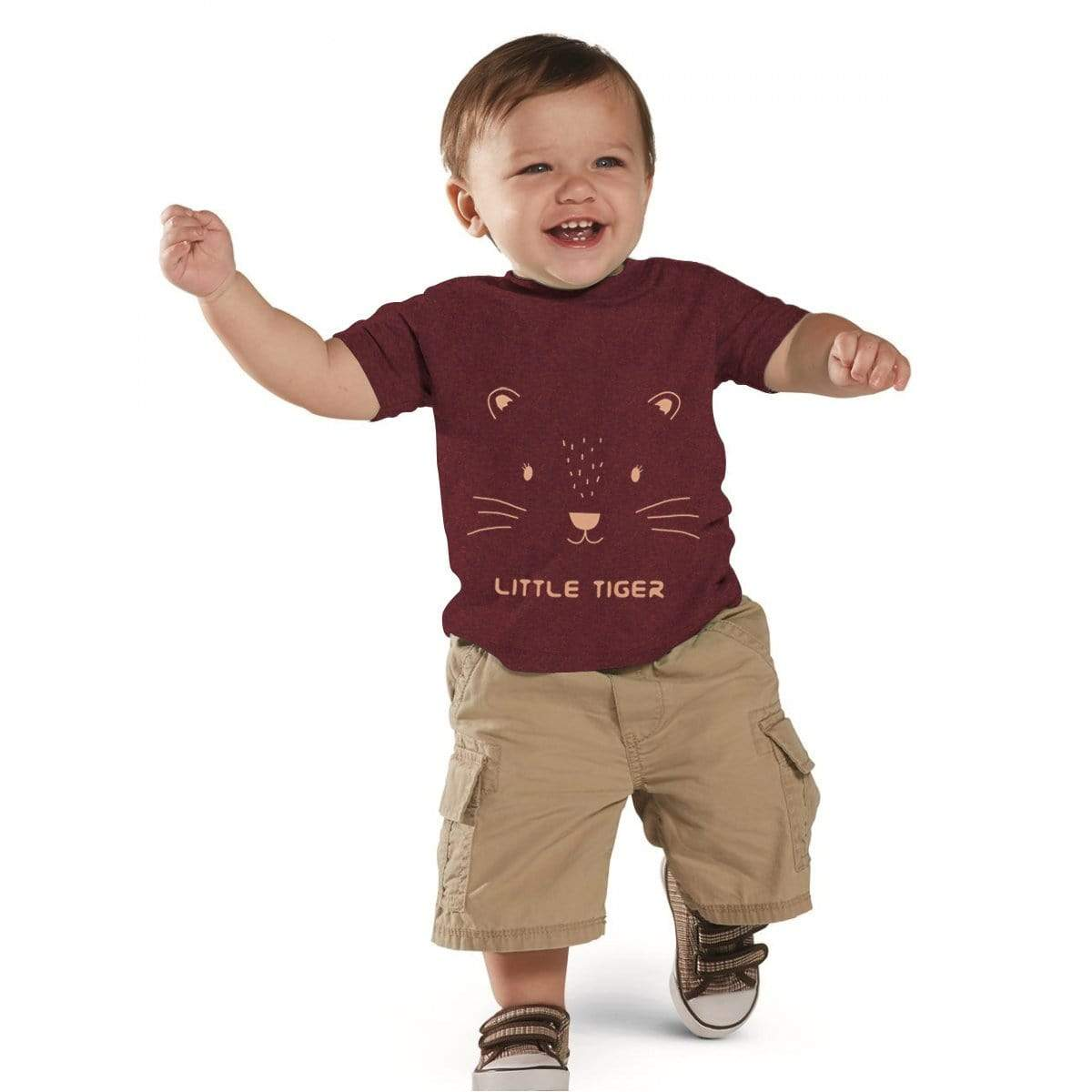Stone Harbor Kid's Romper Burgundy / 0-3 Months Stone Harbor Little Tiger Crew Neck Tee Shirt