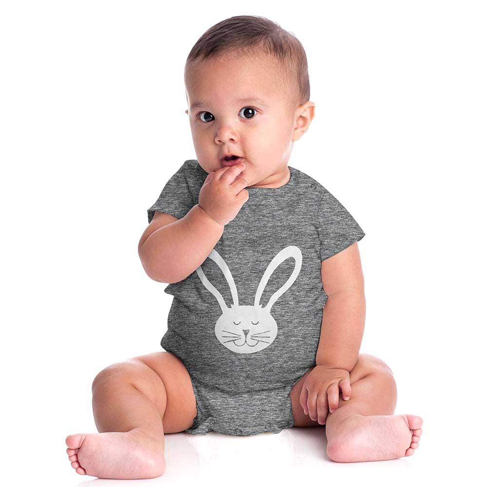 Stone Harbor Kid's Romper Dark Grey / 0-3 Months Stone Harbor Short Sleeve Rabby Romper