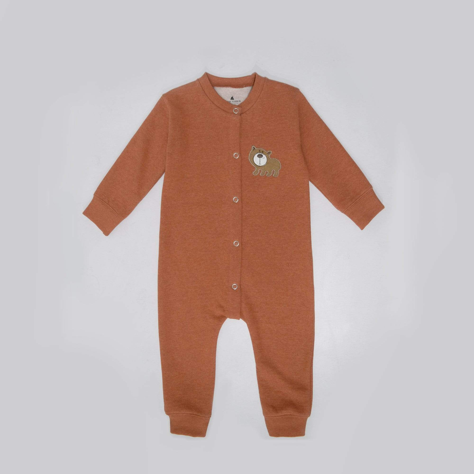 Stone Harbor Kid's Romper Light Orange / 0-3 Months Kid's Stone Harbor UNISEX Bear Fleece Romper