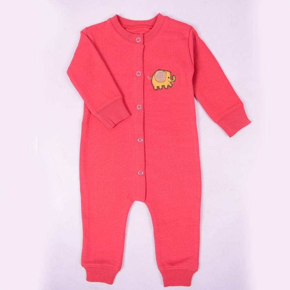 Stone Harbor Kid's Romper Red / 0-3 Months Kid's Stone Harbor UNISEX Elepho Fleece Romper