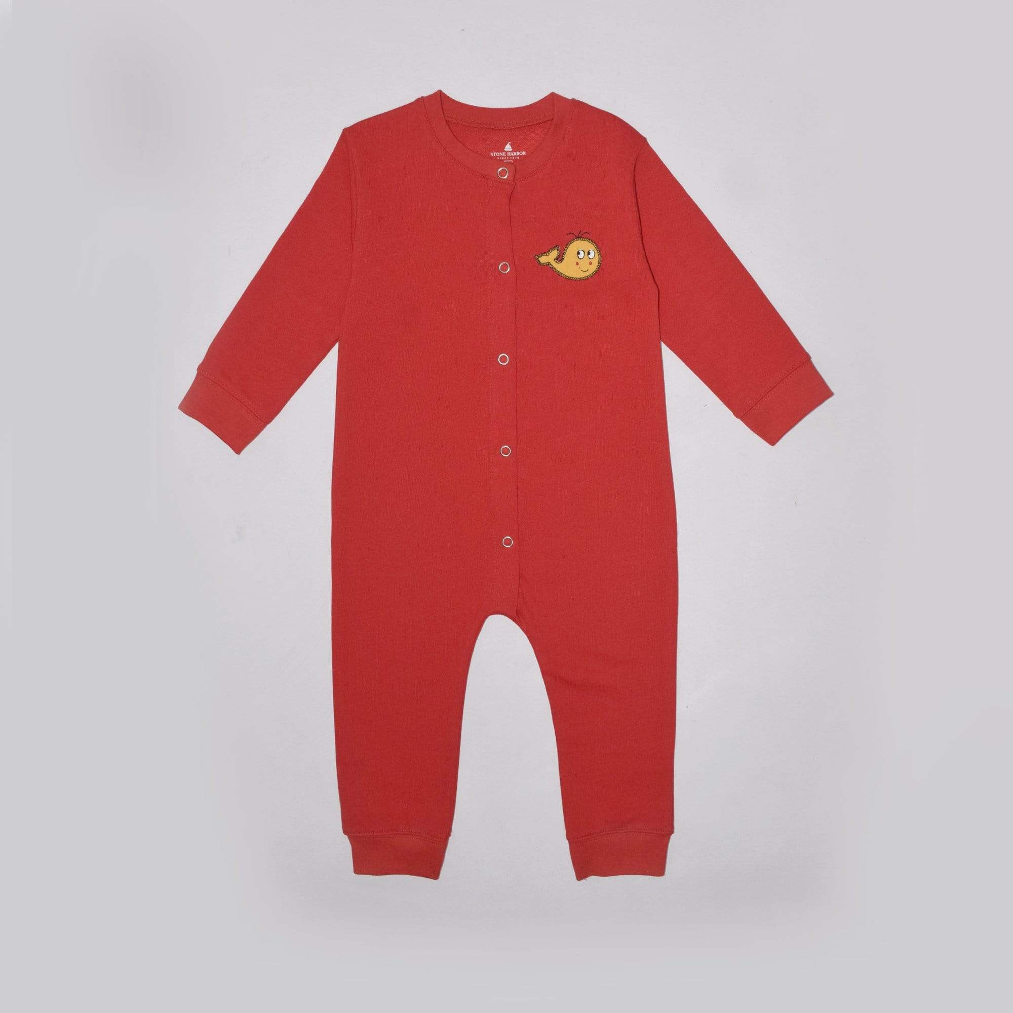 Stone Harbor Kid's Romper Red / 0-3 Months Kid's Stone Harbor UNISEX Eyetone Fleece Romper