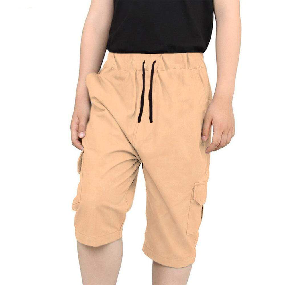 Stone Harbor Kid's Shorts Ivory Cream / 2-3 Year Stone Harbor Cotton Twill Long Cargo Shorts