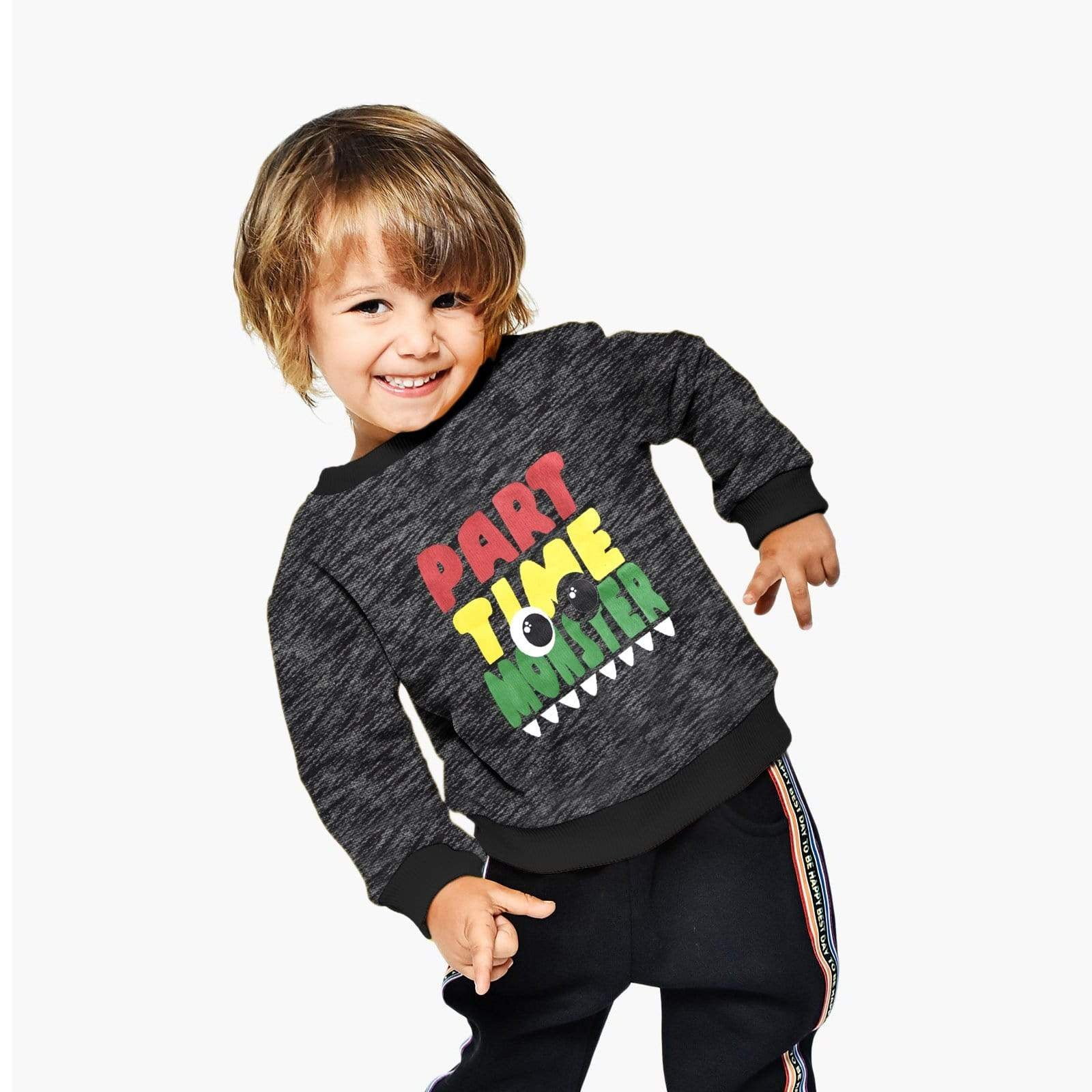 Stone Harbor Kid's Sweatshirt Black / 2-3 Years BOY'S STONE HARBOR PART MONSTER LONG SLEEVE SWEAT SHIRT