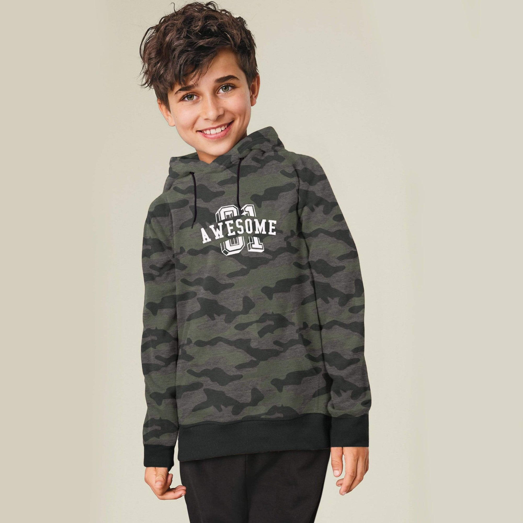 Stone Harbor Kid's Sweatshirt Charcoal / 2-3 Years Boy's Stone Harbor Awesome 01 Pullover Hoodie