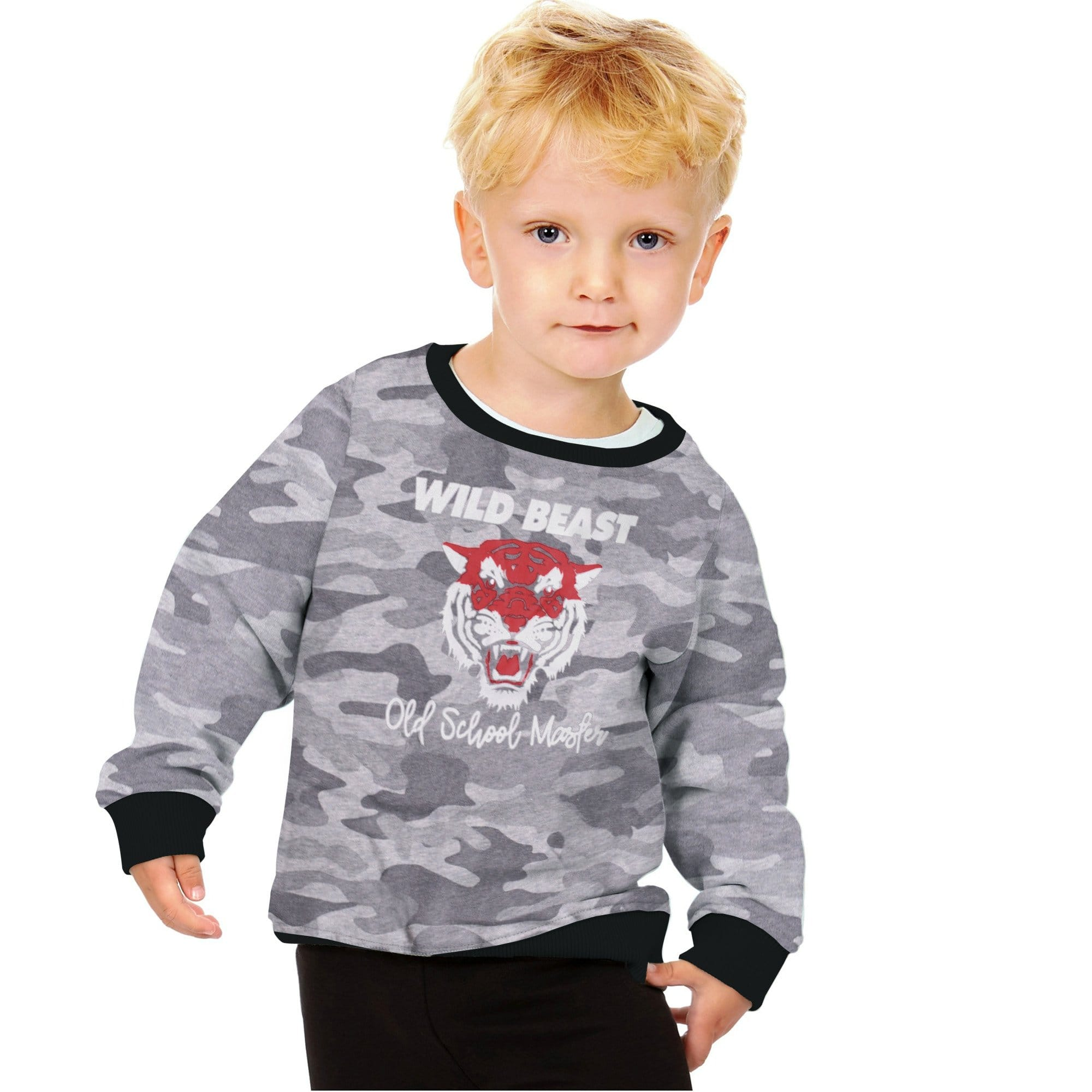 Stone Harbor Kid's Sweatshirt Grey / 2-3 Years Stone Harbor Wild Life Camouflage Crew Neck Sweat Shirt