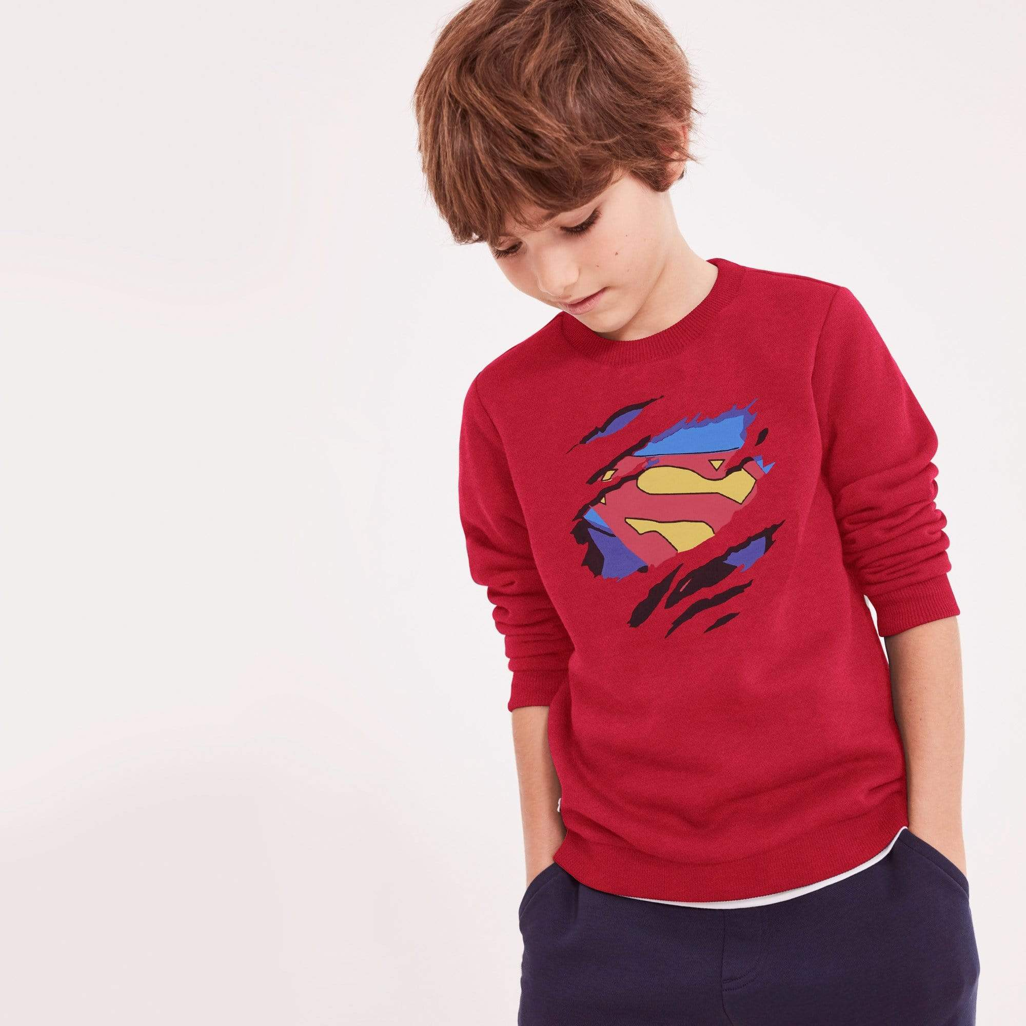 Stone Harbor Kid's Sweatshirt Red / 4-5 Years MUST HAVE Boy's Stone Harbor SUPERMAN Crew Neck Sweatshirt
