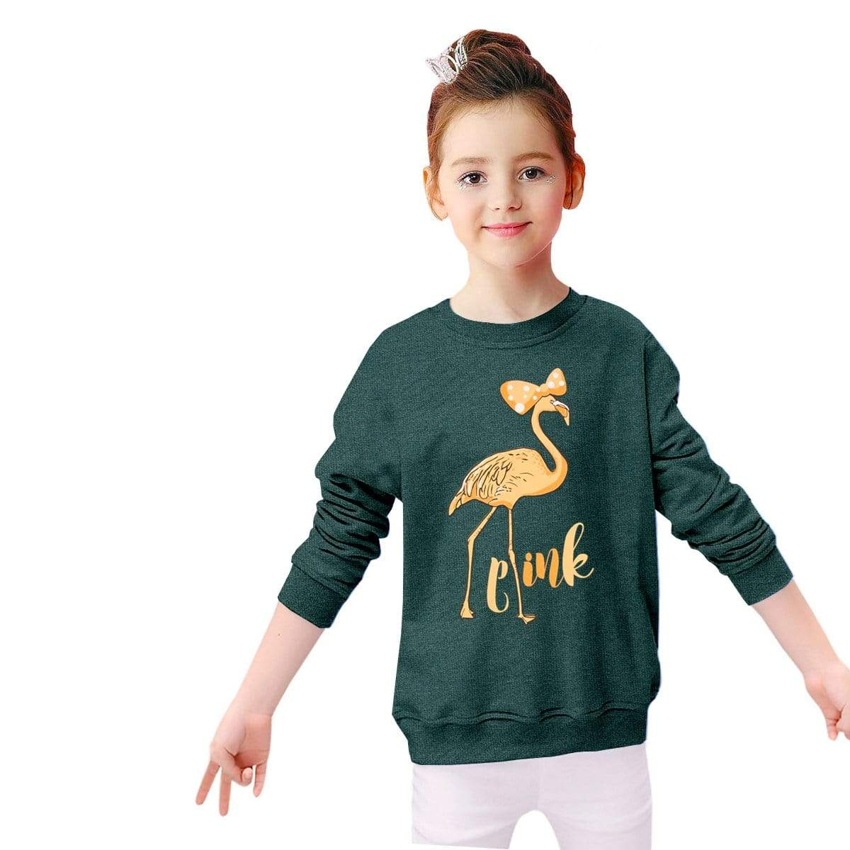 Stone Harbor Kid's Sweatshirt Sea Green / 2-3 Years Girl's STONE HARBOR Pink Ostro CREW NECK SWEATSHIRT