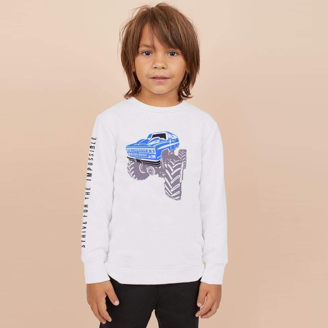 Stone Harbor Kid's Sweatshirt White / 5-6 Years Boy's Stone Harbor Strive Crew Neck Sweatshirt