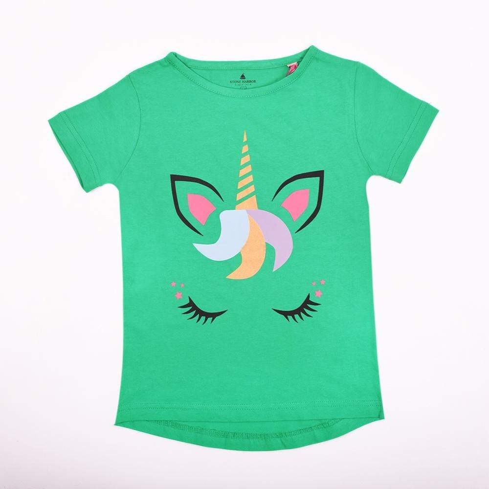 Stone Harbor Kid's T-Shirt Parrot / 2-3 Y TODDLER GIRLS UNICORN GRAPHIC TEE-SHIRT