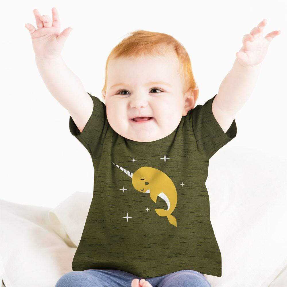 Stone Harbor Kid's T-Shirt Olive / 0-3 Months Boy's Stone Harbor DOLPHI Crew Neck Tee Shirt