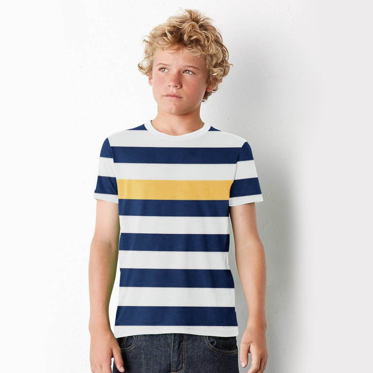 Stone Harbor Kid's T-Shirt White / 2-3 Years Boy's Stone Harbor Color Stripes Short Sleeve Tee Shirt