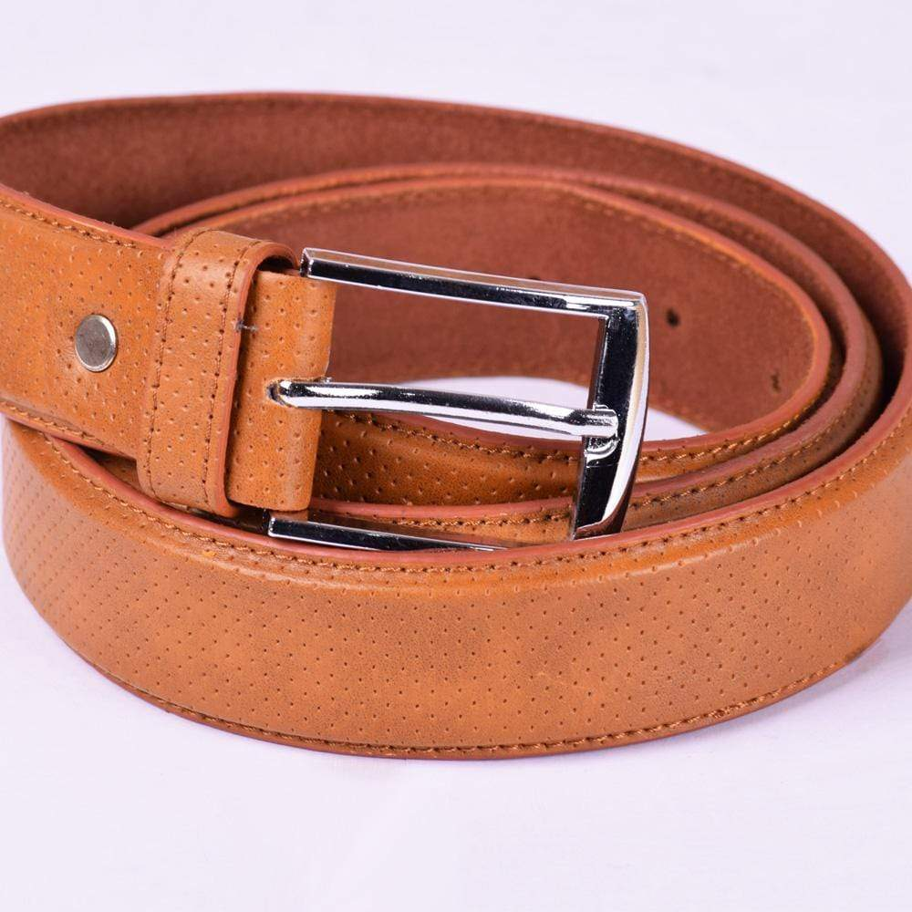 Stone Harbor Men's Belt 45 Inches Stone Harbor Men's Logtex Dotted Leather Belt