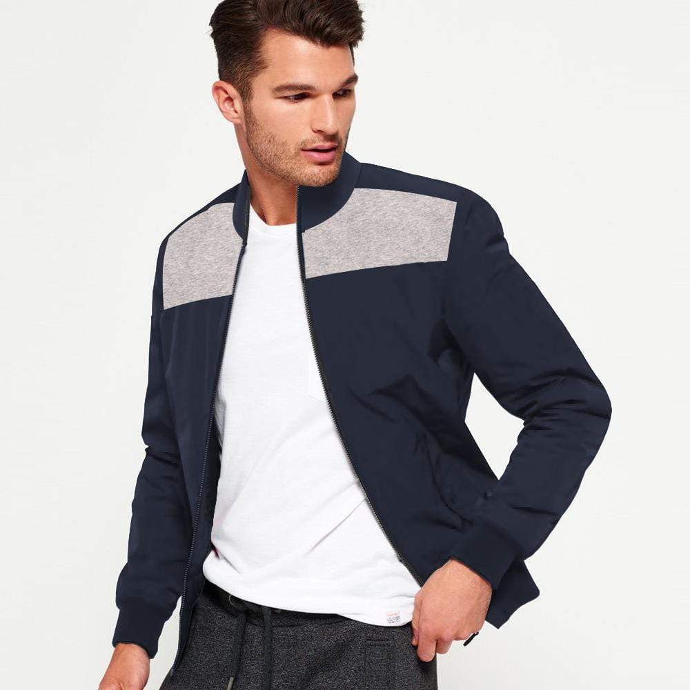 Stone Harbor Men's Bomber Jacket Navy / S MEN'S STONE HARBOR MOCK NECK Navy ZIPPER