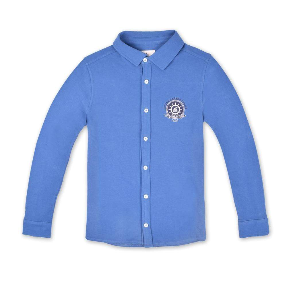 Stone Harbor Men's Casual Shirt Blue / S STONE HARBOR ANCHOR BADGE LONG SLEEVE CASUAL SHIRT