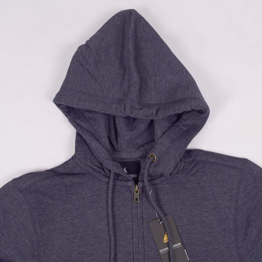 Stone Harbor Men's Hoodies Midnight Navy / S Men's Stone Harbor Midnight Dude Zipper Hoodie