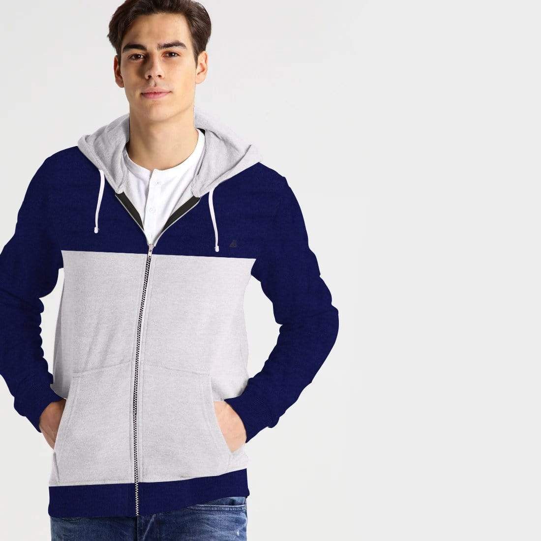 Stone Harbor Men's Hoodies Navy/White / S Men's Stone Harbor Flowa Zipper Hoodie