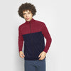 Stone Harbor Men's Mock Neck Zipper Navy/Burgundy / S MEN'S STONE HARBOR BALIT MOCK NECK ZIPPER