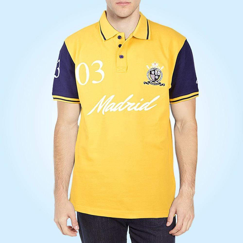 Stone Harbor Men's Polo Shirt Yellow / S STONE HARBOR MADRID POLO SHIRT