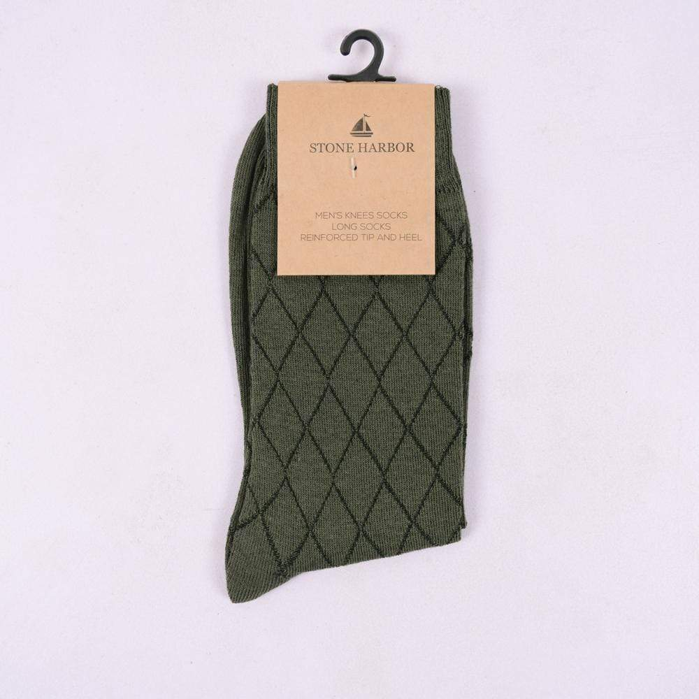 Stone Harbor Men's Socks Men's Stone Harbor Army Structure Long Socks