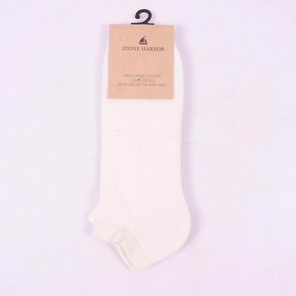 Stone Harbor Men's Socks Men's Stone Harbor Off White Ankle Socks