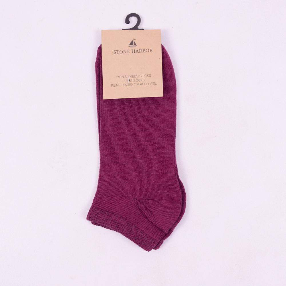 Stone Harbor Men's Socks Men's Stone Harbor Plum Ankle Socks
