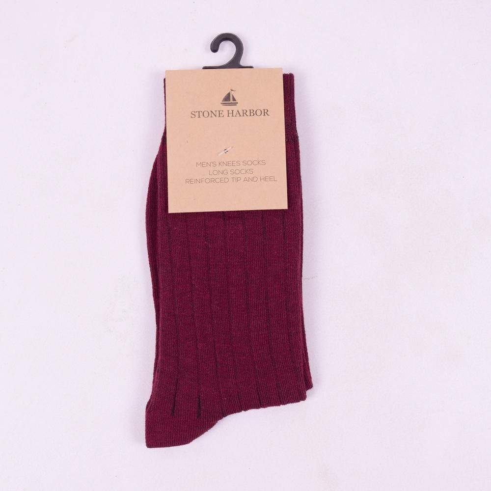 Stone Harbor Men's Socks Men's Stone Harbor Plum Lining Long Socks