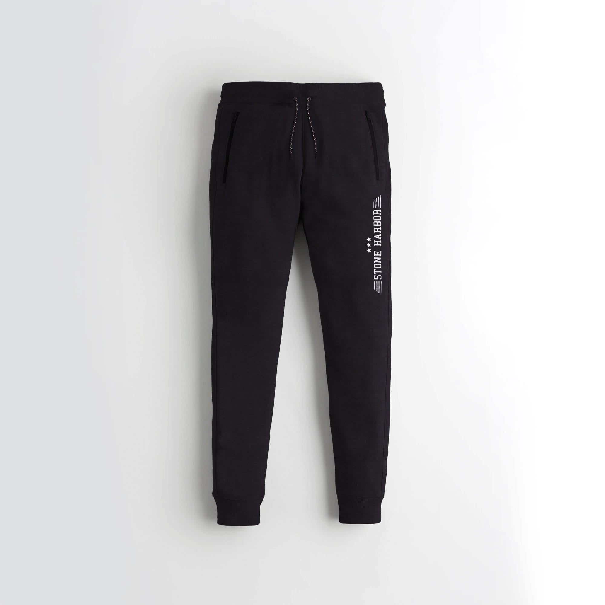 Stone Harbor Men's Sweat Pants Black / S Men's Stone Harbor Soft Black Sweat Pants
