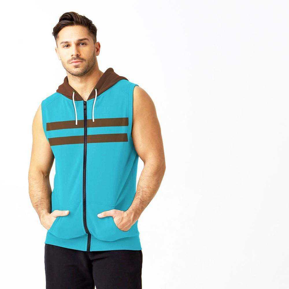Stone Harbor Men`s Sweater Aqua / S MEN'S STONE HARBOR AQUA SLEEVELESS ZIPPER