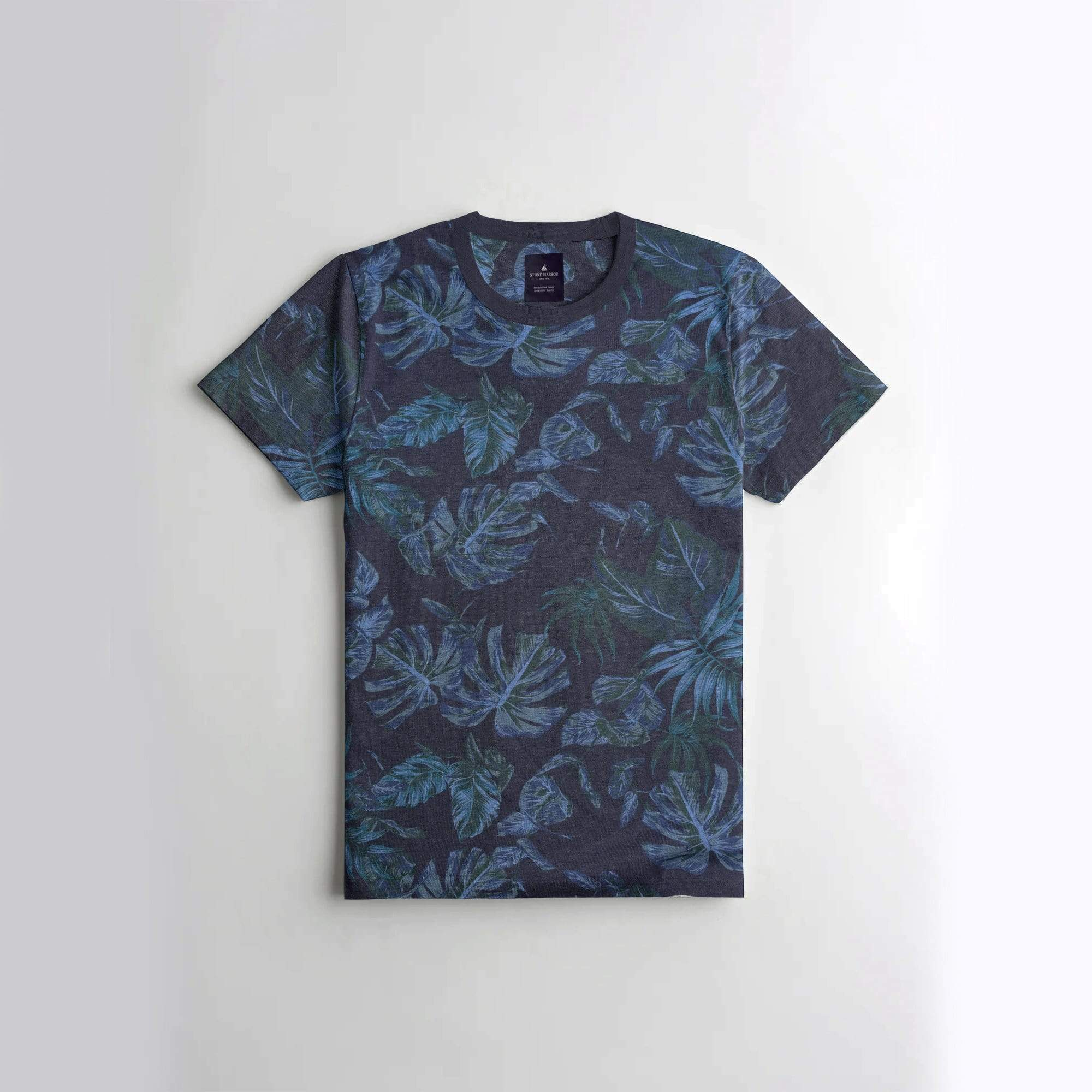 Stone Harbor Men's T-Shirt Navy / S Men's Stone Harbor Navy Floral Tee Shirt