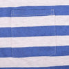 Stone Harbor Textured Blue Striped Ringer Pocket Tee shirt