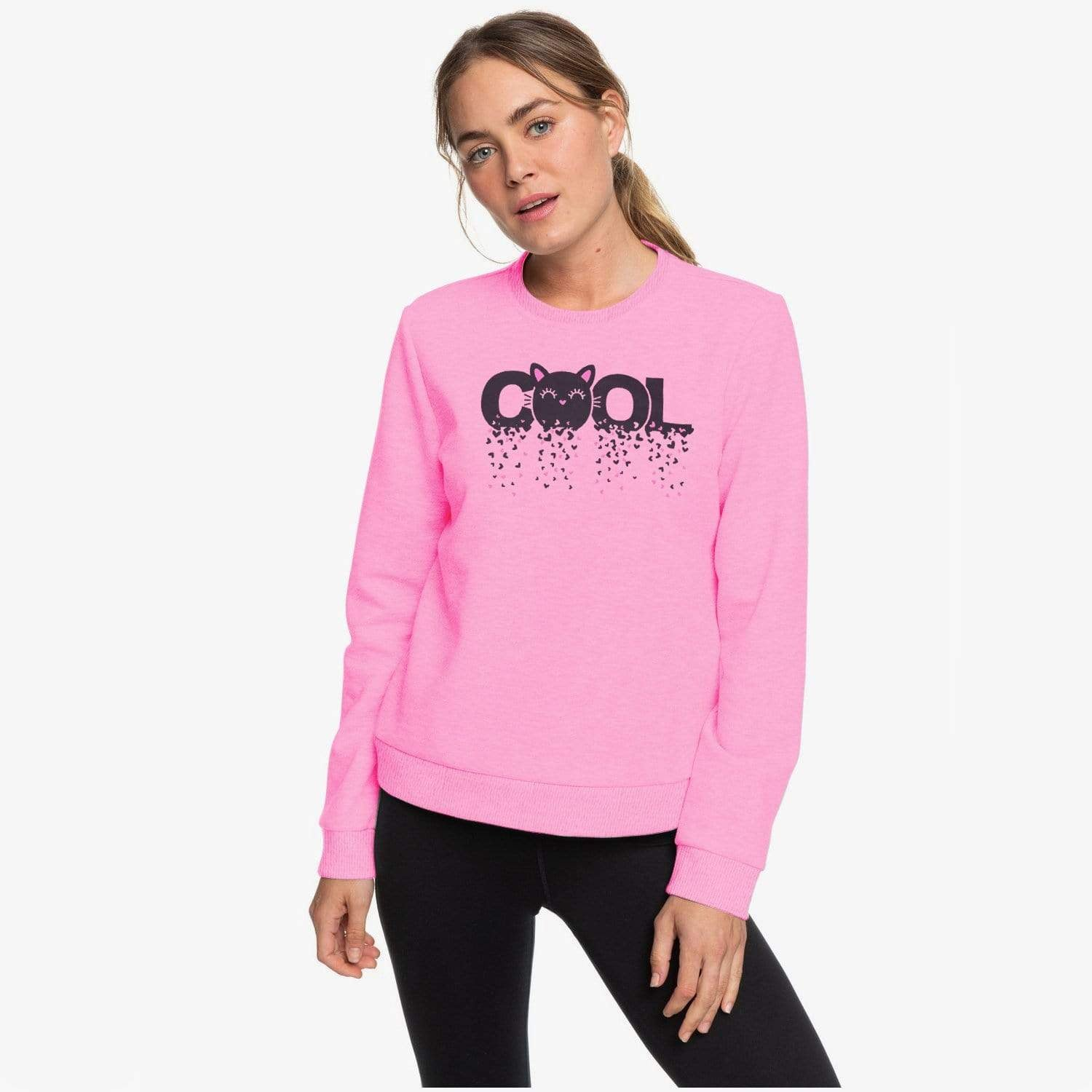 Stone Harbor Women Sweatshirt Pink / S-10 Women's STONE HARBOR Cool Cat SWEAT SHIRT