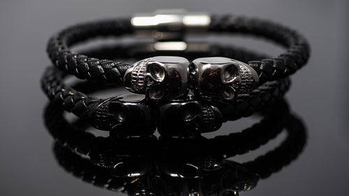 "Leather Bracelets men ""Chronos Morpheus"" - Gentsbracelets UK"