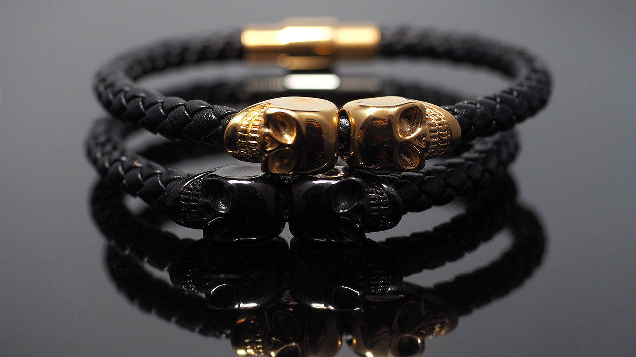"Leather Bracelets men ""Morpheus Zeus"" - Gentsbracelets UK"